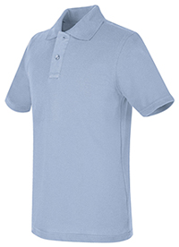 Real School Uniforms REAL SCHOOL Youth Unisex S/S Pique Polo Light Blue (68322-RLTB)