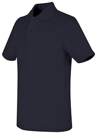 Real School Uniforms REAL SCHOOL Youth Unisex S/S Pique Polo Navy (68322-RNVY)