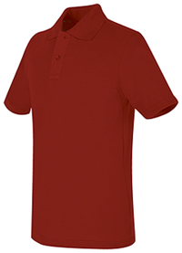 Real School Uniforms REAL SCHOOL Youth Unisex S/S Pique Polo Red (68322-RRED)