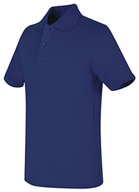 Real School Uniforms REAL SCHOOL Youth Unisex S/S Pique Polo Royal Blue (68322-RROY)