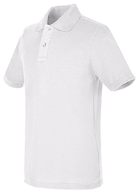 Real School Uniforms REAL SCHOOL Youth Unisex S/S Pique Polo White (68322-RWHT)