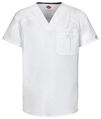 EDS Signature Stretch Men's V-Neck Top (81714A-WHWZ) (81714A-WHWZ)