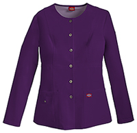 Dickies Snap Front Warm-Up Jacket Eggplant (82310-EGPZ)