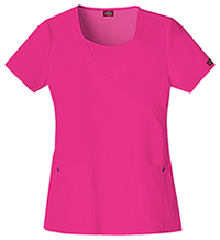Dickies Mock Wrap Top Hot Pink (82814-HPKZ)