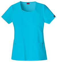 Dickies Mock Wrap Top Icy Turquoise (82814-ITQZ)