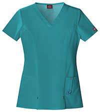 Dickies V-Neck Top Teal (82851-DTLZ)