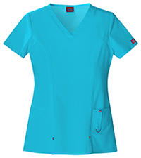 Dickies V-Neck Top Icy Turquoise (82851-ITQZ)