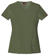 Dickies V-Neck Top Olive (82851-OLWZ)