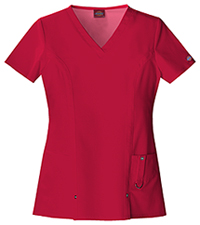 Dickies V-Neck Top Red (82851-REWZ)