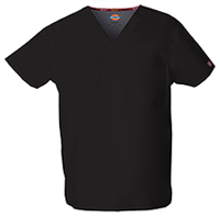 Dickies Unisex V-Neck Top Black (83706-BLWZ)