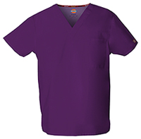 Dickies Unisex Tuckable V-Neck Top Eggplant (83706-EGWZ)
