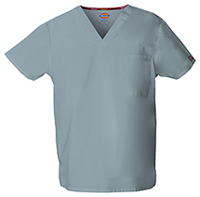 Dickies Unisex Tuckable V-Neck Top Grey (83706-GRWZ)