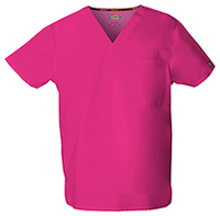 Dickies Unisex Tuckable V-Neck Top Hot Pink (83706-HPKZ)