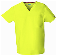 Dickies Unisex V-Neck Top Lime Punch (83706-LIPZ)