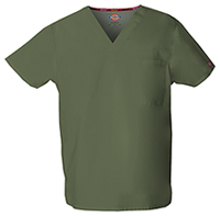 Dickies Unisex V-Neck Top Olive (83706-OLWZ)