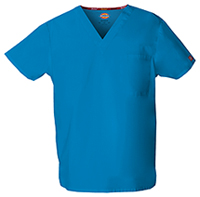Dickies Unisex V-Neck Top Riviera Blue (83706-RVBZ)