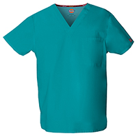 Dickies Unisex V-Neck Top Teal Blue (83706-TLWZ)