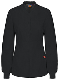 Dickies Snap Front Warm-up Jacket Black (85304A-BLWZ)