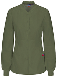 Dickies Snap Front Warm-up Jacket Olive (85304A-OLWZ)