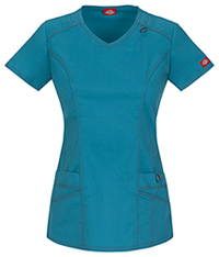 Dickies V-Neck Top Teal (85812-DTLZ)
