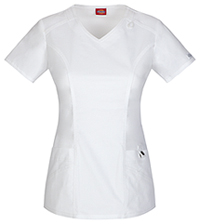 Dickies V-Neck Top White (85812-DWHZ)