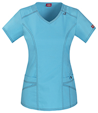 Dickies V-Neck Top Icy Turquoise (85812-ITQZ)