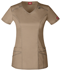 Dickies V-Neck Top Dark Khaki (85812-KHIZ)