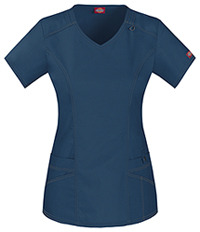 Dickies V-Neck Top D-Navy (85812-NVYZ)
