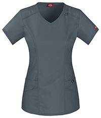 Dickies V-Neck Top Lt. Pewter (85812-PEWZ)