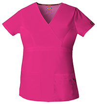 Dickies Mock Wrap Top Hot Pink (85820-HPKZ)