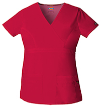 Dickies Mock Wrap Top Red (85820-REWZ)