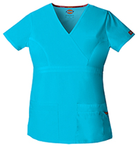 Dickies Mock Wrap Top Turquoise (85820-TQWZ)