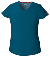 Dickies V-Neck Top Caribbean Blue (85906-CAWZ)