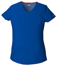 Dickies V-Neck Top Galaxy Blue (85906-GBWZ)