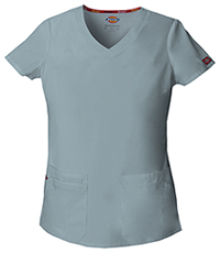 Dickies V-Neck Top Grey (85906-GRWZ)