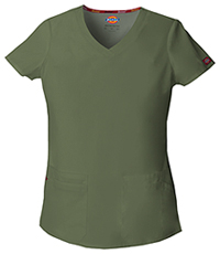 Dickies V-Neck Top Olive (85906-OLWZ)