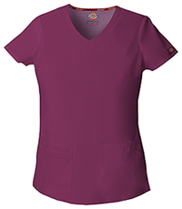 Dickies V-Neck Top Wine (85906-WIWZ)
