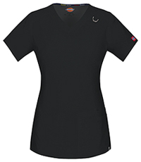 Dickies V-Neck Top Black (85948A-BLWZ)