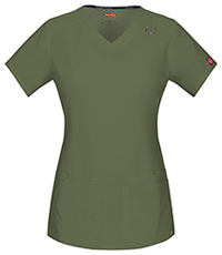 Dickies V-Neck Top Olive (85948A-OLWZ)