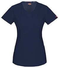 Dickies Mock Wrap Top Navy (85954A-NVWZ)