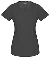 Dickies Mock Wrap Top Pewter (85954A-PTWZ)