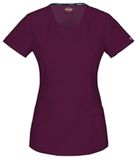 Dickies Mock Wrap Top Wine (85954A-WIWZ)