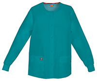 Dickies Snap Front Warm-Up Jacket Teal Blue (86306-TLWZ)