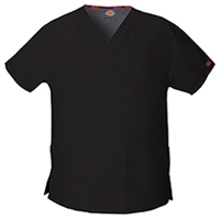 Dickies V-Neck Top Black (86706-BLWZ)