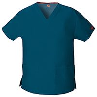 Dickies V-Neck Top Caribbean Blue (86706-CAWZ)