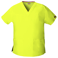 Dickies V-Neck Top Lime Punch (86706-LIPZ)