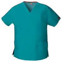 Dickies V-Neck Top Teal Blue (86706-TLWZ)