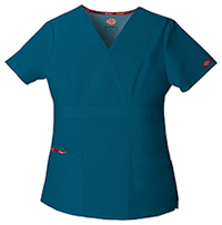 Dickies Mock Wrap Top Caribbean Blue (86806-CAWZ)