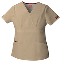 Dickies Mock Wrap Top Dark Khaki (86806-KHIZ)