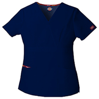 Dickies Mock Wrap Top Navy (86806-NVWZ)
